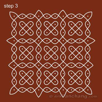10x10 Dot Rangoli Step 3
