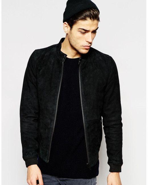 25  best Mens suede bomber jacket ideas on Pinterest   Black jeans ...
