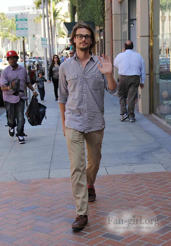Matthew Gray Gubler Out And About In Beverly Hills