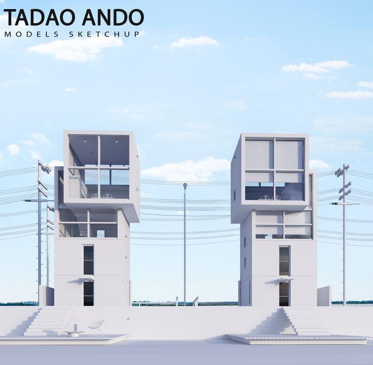 TADAO ANDO HOUSE 4X4 (SKETCHUP MODELS) - VISUALIZATION AND ARCHVIZ TRAINING