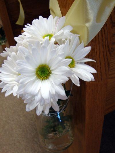 aisle markers/decorMason Jars, Pretty Flower