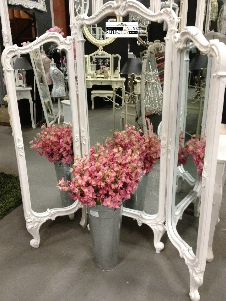 Mirrors:  Lovely Shabby Chic tri-fold #mirror.