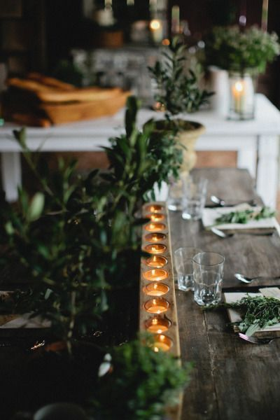 natural cozy style for the table