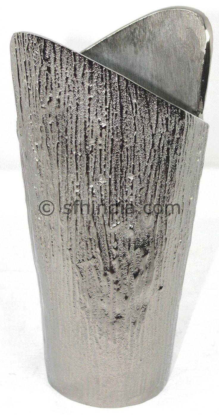 Aluminium Vase with Nickel Finish