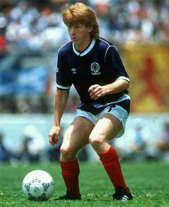 Gordon Strachan of Scotland at the 1986 World Cup Finals.