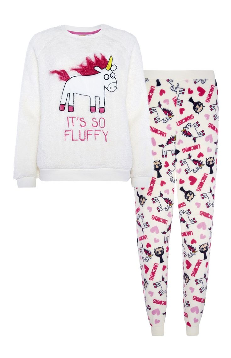 Primark - Pyjamaset It's so fluffy fleece