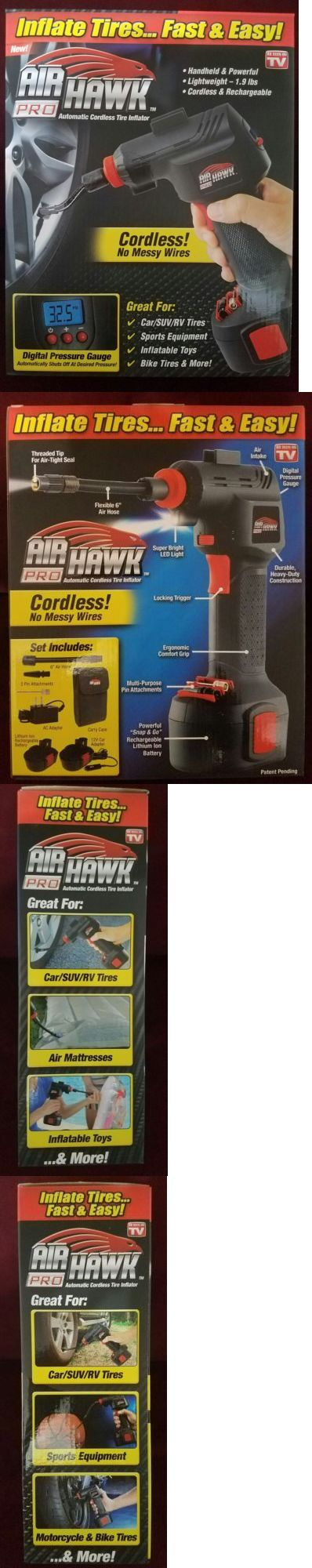 Air Compressors 30506: New In Box Air Hawk Pro Cordless Portable Air Compressor Tire Inflator Airhawk ! -> BUY IT NOW ONLY: $60 on eBay!