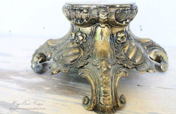 Vintage Metal Ornate Lamp Base Farmhouse Chic by HoggBarnAntiques, $22.00