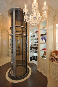 Closet with vacuum elevator. Awesome! --