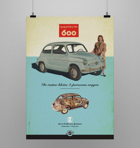 zastava 600 Yugoslavia  Listign is for print only. Every print has a 5 cm white border for easy framing.
