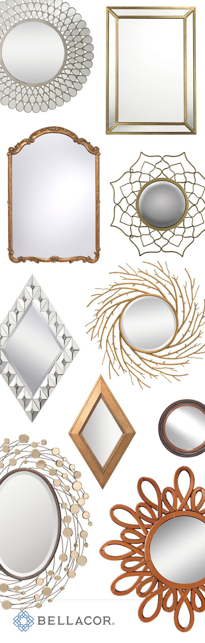 Mirrors give a room style and depth. At Bellacor, you can find thousands of mirrors from all of the top brands. Now, for a limited-time you can save up to 70% on your favorite mirror styles. Plus, we'll ship it for free if your order is over $75. And don't forget about the Bellacor price match guarantee. http://www.bellacor.com/results.cfm?Ns=P_Discount_Margin&N=8164+4294891159+8333+4294862136+8340+8386&No=0&Nso=0&itemid=1672323&partid=social_pinterestad_holiday_mirrors