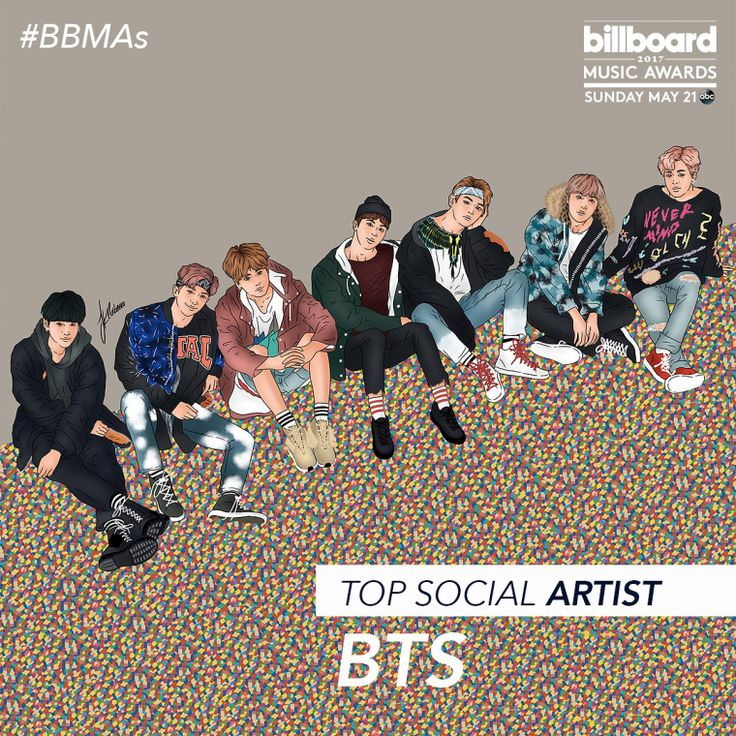 BTS is one of the Top Social Artist Nominees on Billboard Music Awards #BBMAs [170410]