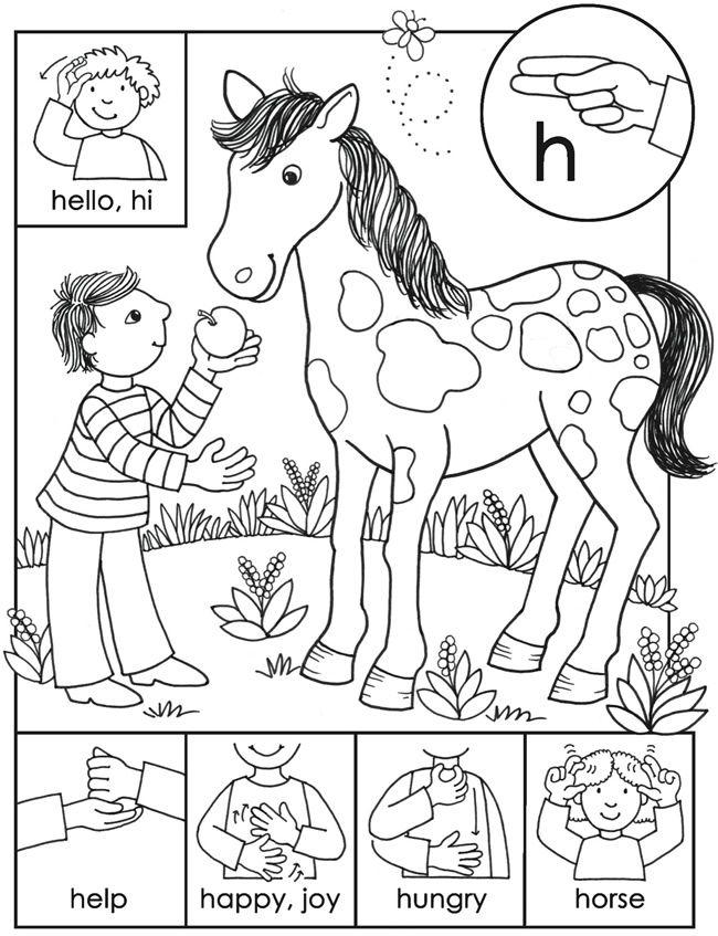 sign language coloring pages to print kindergarten sign language worksheets sketchbook
