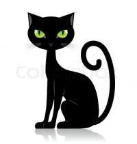 Znalezione obrazy dla zapytania desene cu pisici negre
