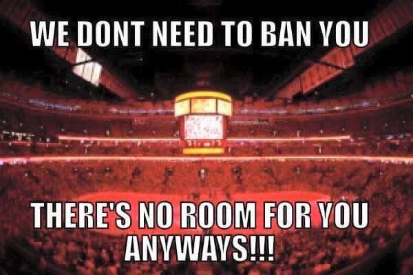 Not a Hawks fan, but this is oh so true about my team's arena too. :P