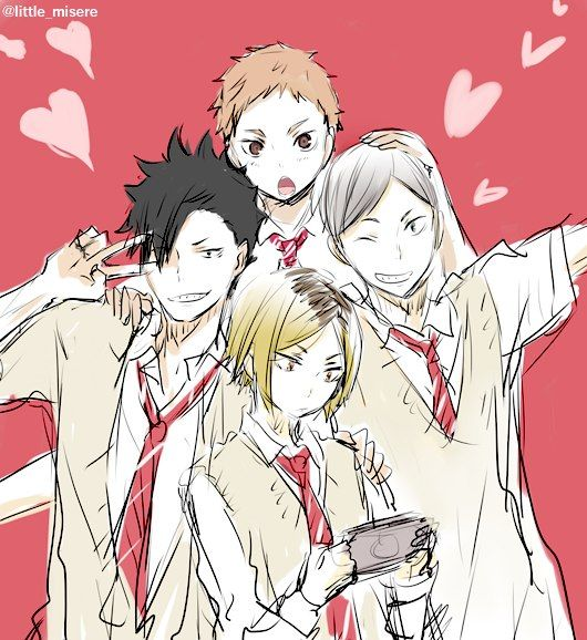 Haikyuu!! // Kenma, Kuroo, Lev & Yaku!!