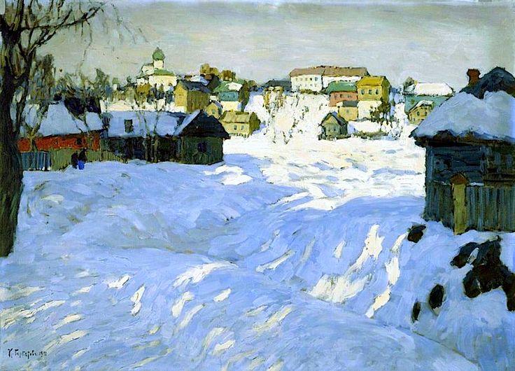 bofransson:  Old Town. Winter Konstantin Gorbatov - 1911