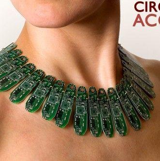 Upcycled Circuit Board  #jewellery #jewelry