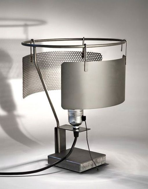 Elmar Thome; Stainless Steel 'Toma' Table Lamp, 1980s.