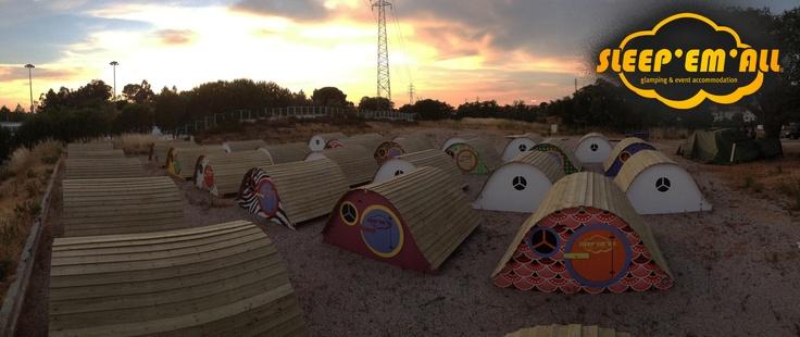 Por-do-sol no acampamento das Quibis. Quibis Camp Sunset.