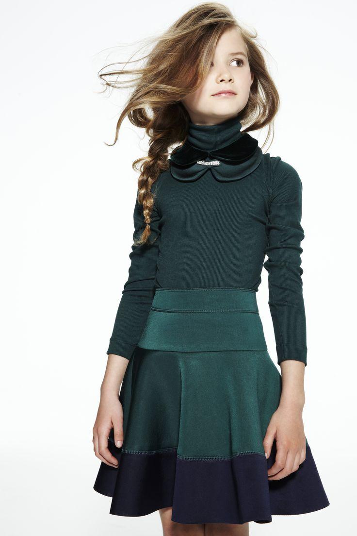 JAKIOO dark petrol color dress tween fashion | Teens ...