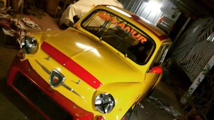 Falta Poco!! Vamos Con Todo Team Mecanur!!  #fiat #fiat600 #fiatc #car #carsofinstagram #abarth #abarthgram #fiat600d #solorace #raceca #racecar #chile #enfierrado by ivan_urbina_57