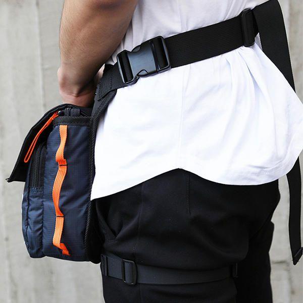 Men Women Nylon Drop Leg Bag Motorcycle Riding Sport Belt Waist Fanny Pack Cross - US$18.40