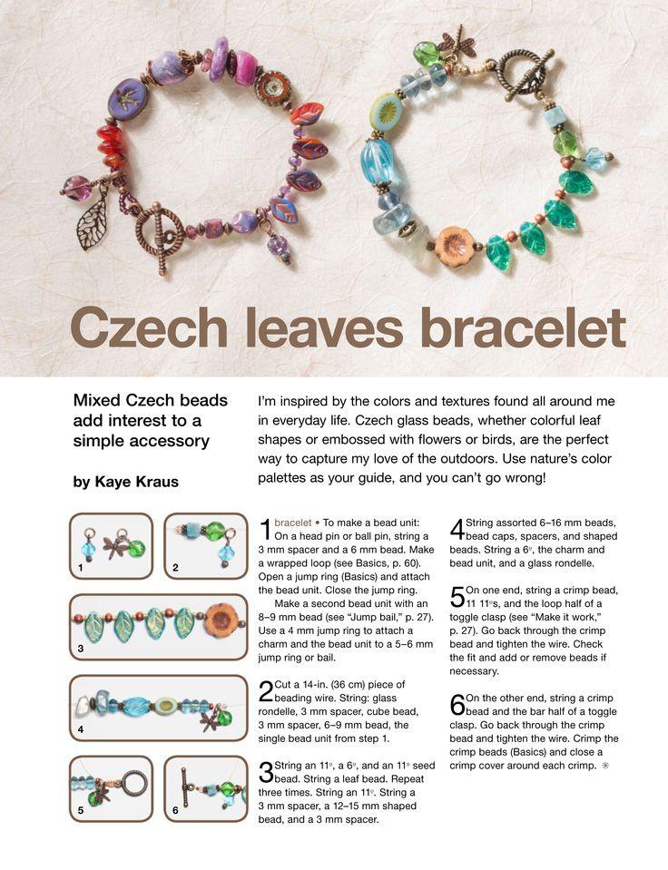 DIY: CZECH LEAVES BRACELET