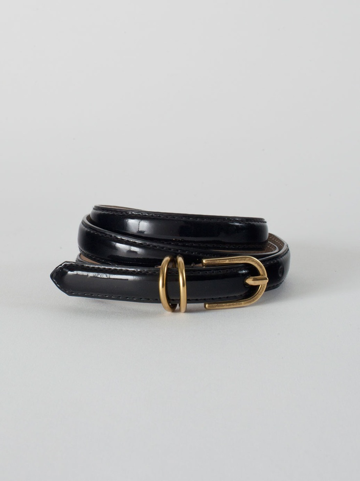 Skinny Patent Belt in Black by #AmericanApparel.