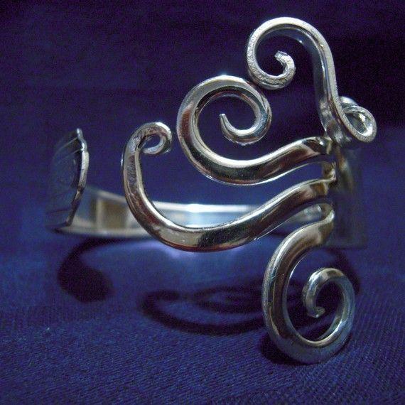 MarchelloArt Sterling Silver Fork Bracelet