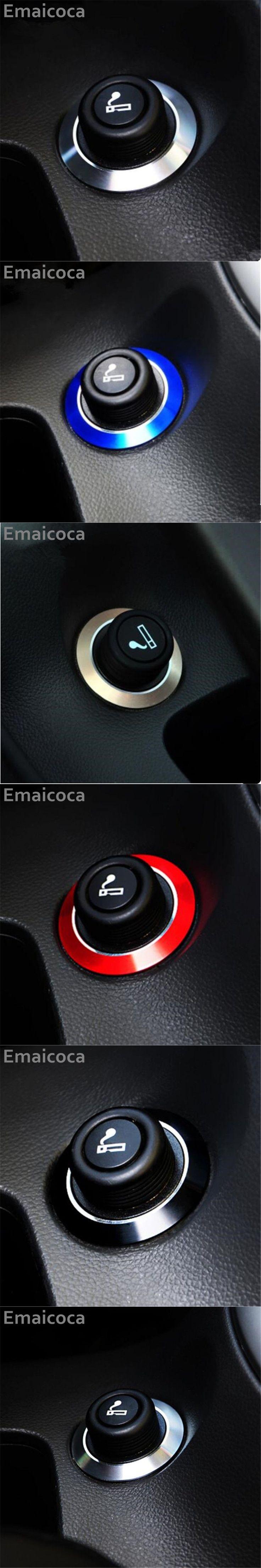 Emaicoca  car cigarette lighter trim stickers Case for Cruze TRAX Malibu/Buick Regal Encore/Opel MOKKA Zafira Astra Insignia