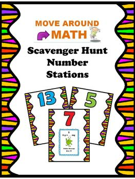 FREE Classroom Scavenger Hunt Games: Permanent Number Stations 1-15. Make your scavenger hunts more presentable and easier to use. Works great with Move Around Math Scavenger Hunts or other scavenger hunts with up to 15 cards.