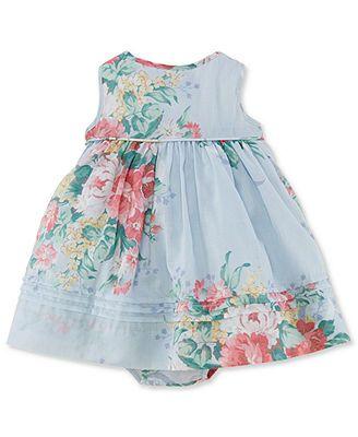 bb6f64fac Ralph Lauren Baby Girls' Floral Dress   LG 2   Baby kids clothes ...