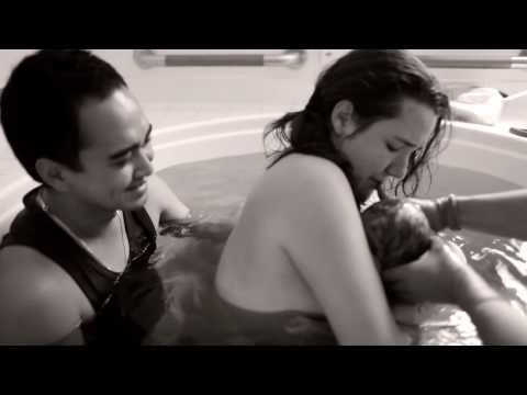 A great video of a natural water birth. I am just speculating, but I think she used Hypnobirthing. I love how the father supports her during the entire labor and his reaction while holding her as Theo is born.