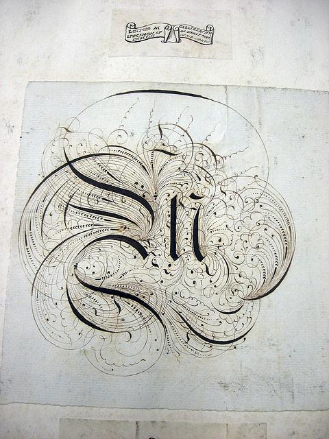Calligraphy, flourishes