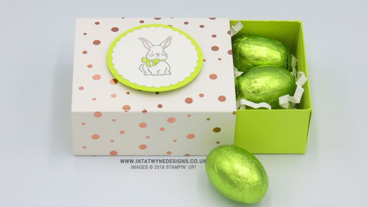 Intatwyne Designs - Independent Stampin' Up! Demonstrator -Angelina - A Good Day Mini Easter Slider Treat Box