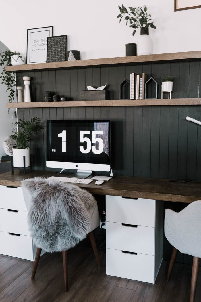 Our Diy Computer Desk Reveal Home Office Decor Home Office
