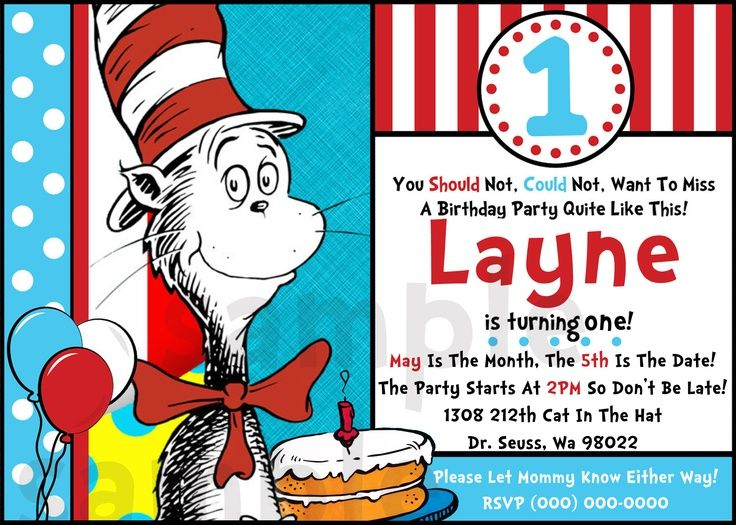 20 best dr.seuss thank you gifts/treats images on pinterest, Birthday invitations