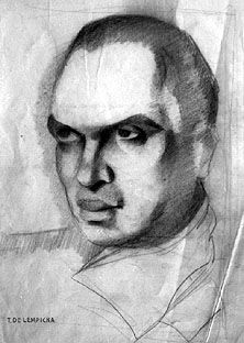 "Study for ""Portrait of Count V.M."", Tamara de Lempicka, 1932"