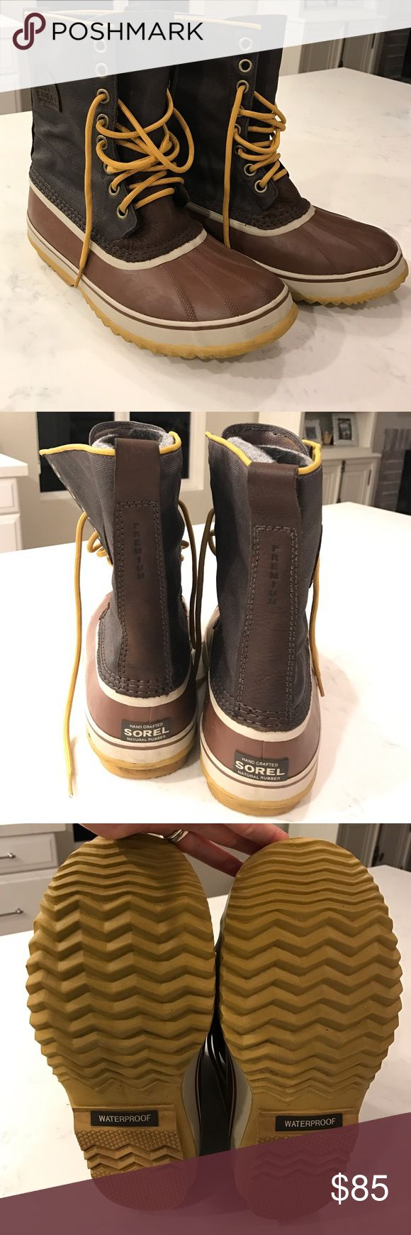 Men's Sorel boots Men's Sorel boots. Gently worn once. In perfect condition. Sorel Shoes Rain & Snow Boots