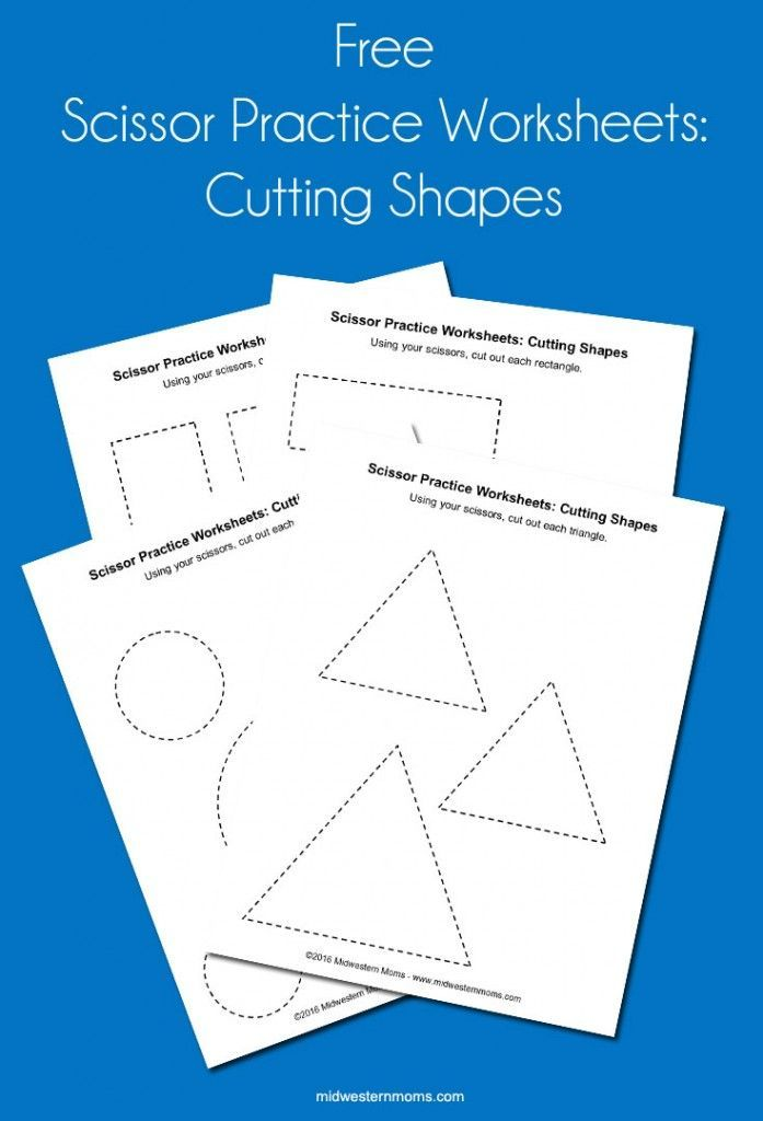 This is an image of Nifty Free Printable Cutting Worksheets