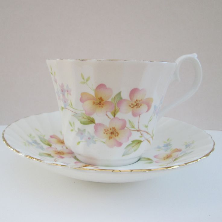 Upcycled recycled repurposed vintage china tea cup and saucer ~ Tea cup planter, ceramic plant pot, unusual gift for Mothers Day birthday by BlueBoxStudio on Etsy