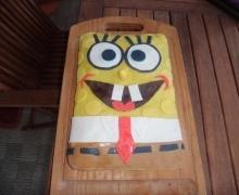 Oggi è il mio compleanno!! Ho creato la torta di SPONGEBOB per me e mio nipote Riccardo che compie 2 anni domani!!Auguri!!!!!!