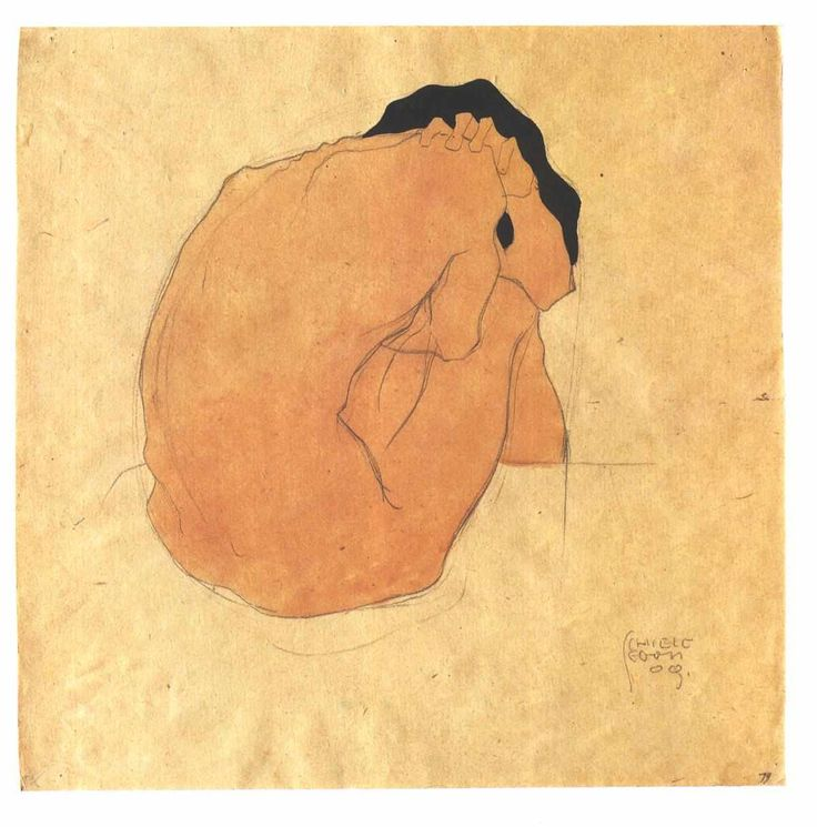 by Egon Schiele (1910) http://workman.tumblr.com/post/5267893072/orthoepy-by-egon-schiele-1910