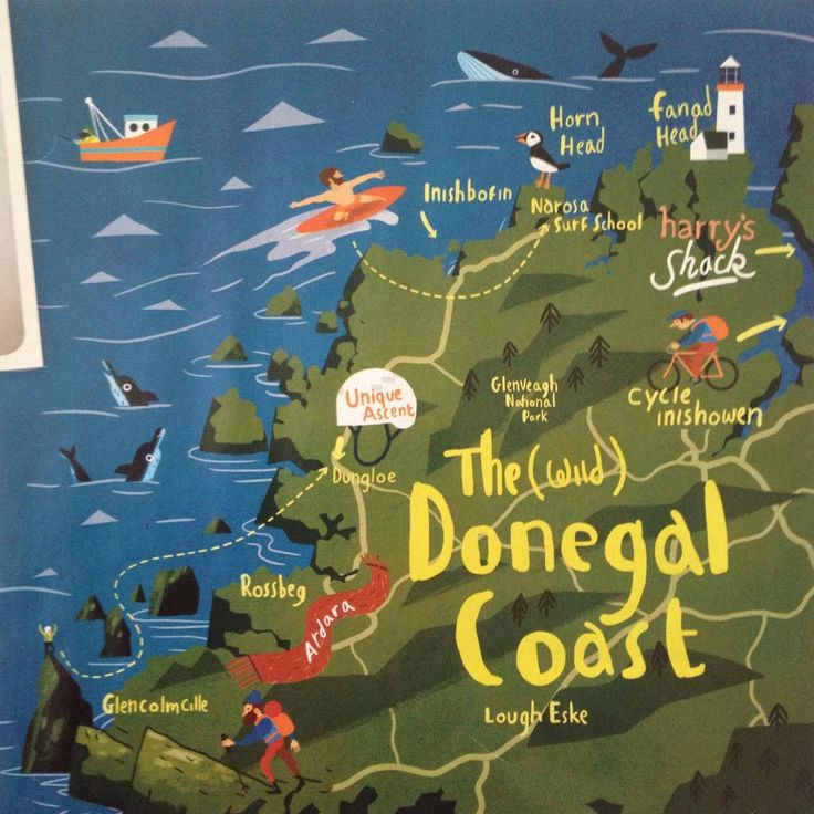 Map of Donegal Coast 237 best maps