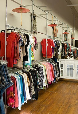 Not our store, but you get the idea.  It's a place where one can donate or buy clothes.