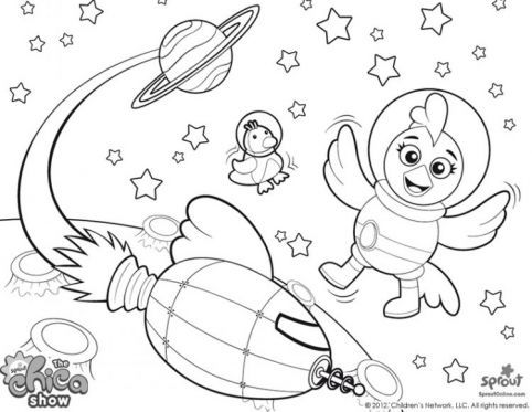 sprout character coloring pages | Chica the Astronaut | The Chica Show | Pinterest | The ...