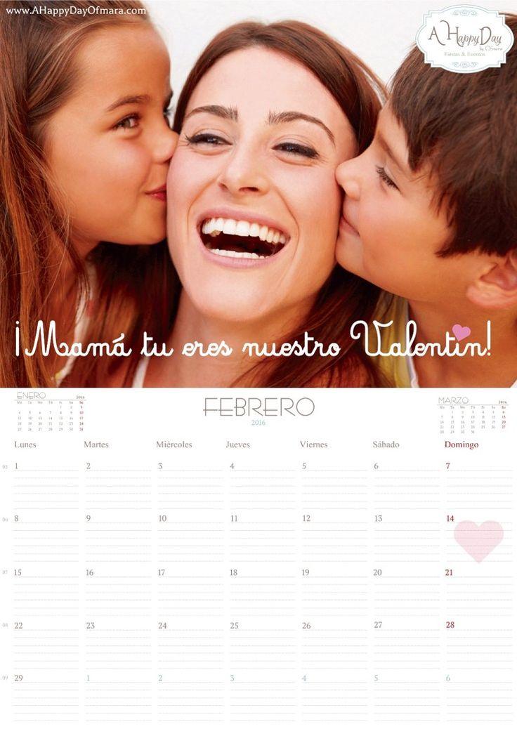 """En A Happy Day by Ofmara la planificación es fundamental en nuestro día a día y sabemos que para ti también lo es! así que os dejamos nuestro calendario mensual del mes de """"Febrero 2016"""" descargable totalmente """"Gratis"""" y listo para imprimir. Aunque el día de San Valentín es una celebración más bien orientada al…"""