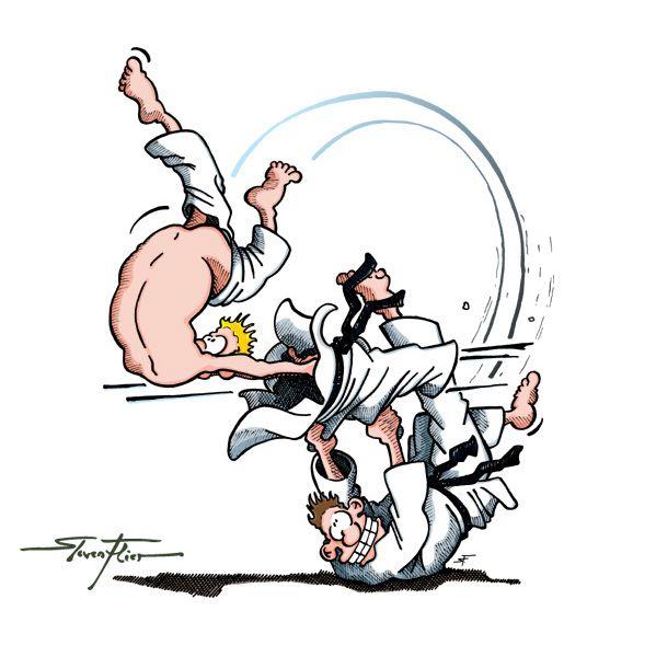 Judo T-Shirt Cartoon : Grafik Atelier Steven Flier