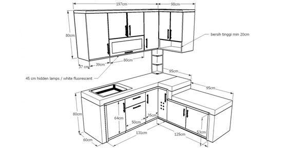 ukuran kitchen set standar minimalis ergonomis, jasa ...